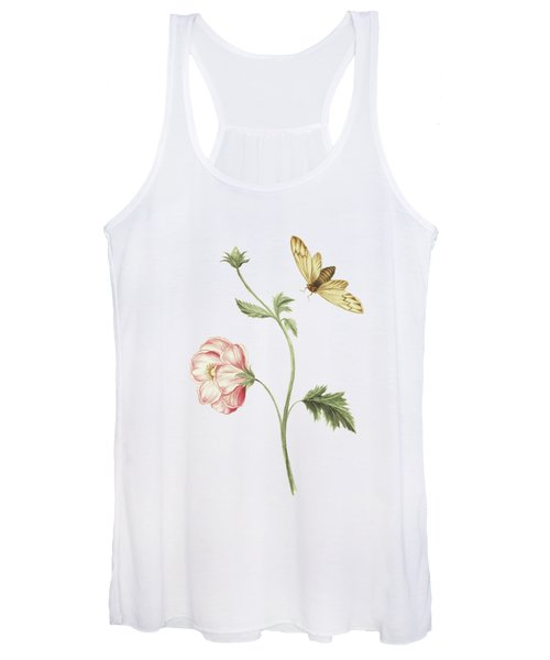 Branch With A Surinam Fly By Cornelis Markee 1763 Women's Tank Top