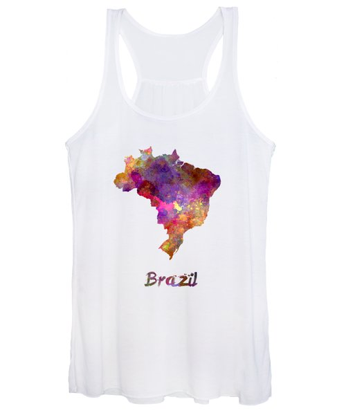 Brazil In Watercolor Women's Tank Top