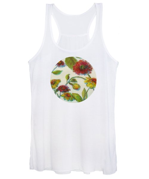 Bright Contemporary Floral  Women's Tank Top