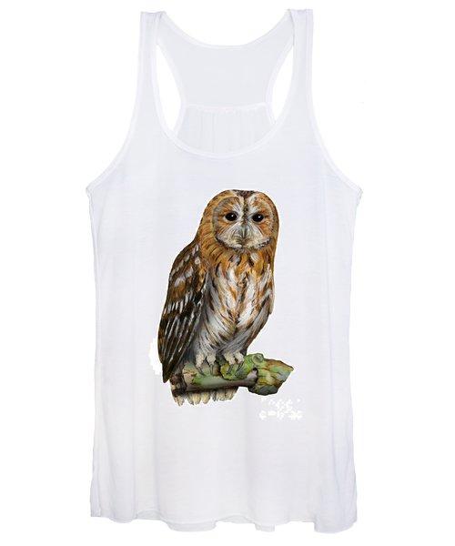 Brown Owl Or Eurasian Tawny Owl  Strix Aluco - Chouette Hulotte - Carabo Comun -  Nationalpark Eifel Women's Tank Top