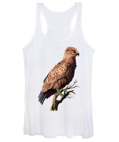 Brown Snake Eagle Women's Tank Top