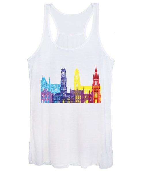 Bruges Skyline Pop Women's Tank Top