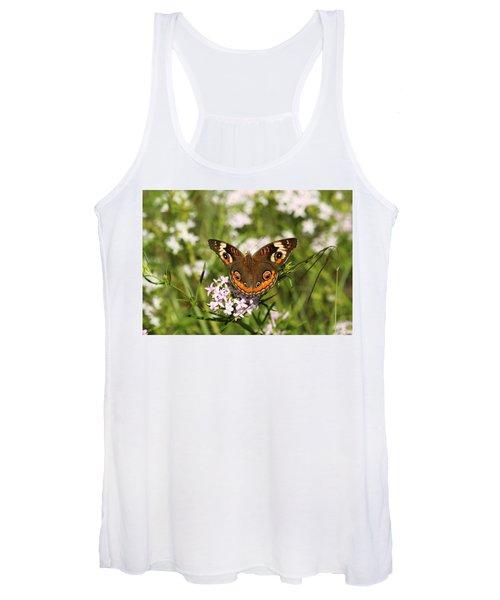 Buckeye Butterfly Posing Women's Tank Top