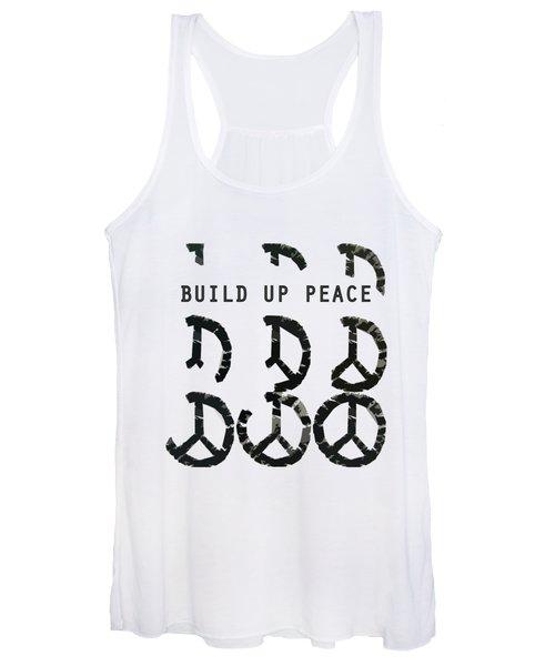 Build Up Peace Ll Women's Tank Top