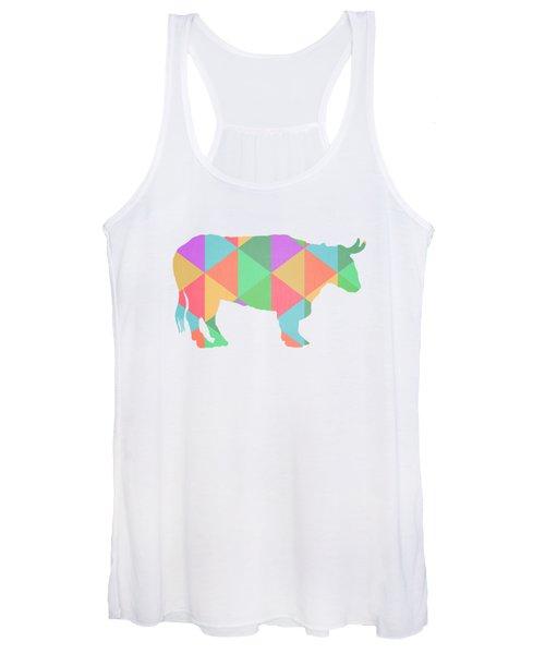 Bull Cow Triangles Women's Tank Top