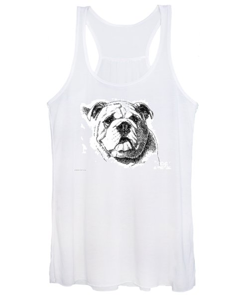 Bulldog-portrait-drawing Women's Tank Top