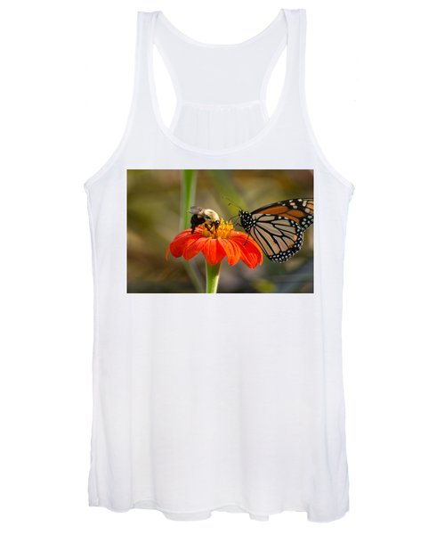 Butterfly And Bumble Bee Women's Tank Top