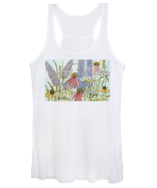 Butterfly Bush In Garden Women's Tank Top