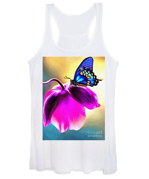Butterfly Floral Women's Tank Top