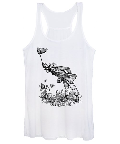 Butterfly Hunting Grandville Transparent Background Women's Tank Top