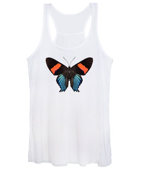 Butterfly Species Butterfly Species Ancyluris Miranda In High Definition Extreme Focus Isolated On W Women's Tank Top