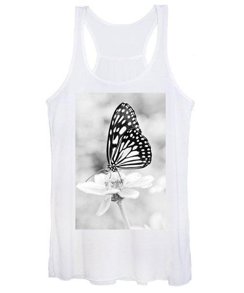 Butterfly Wings 7 - Black And White Women's Tank Top