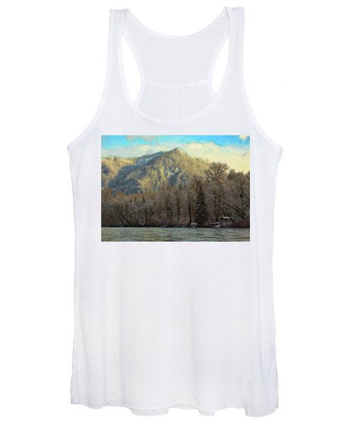 Women's Tank Top featuring the photograph Cabin On The Skagit River by Bob Cournoyer