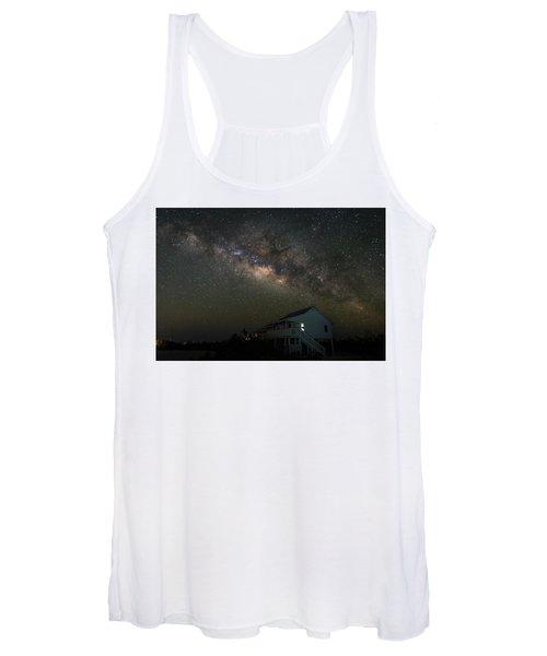 Cabin Under The Milky Way Women's Tank Top