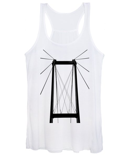 Cable Bridge Abstract Women's Tank Top
