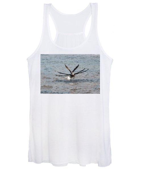 California Brown Pelicans Flying In Tandem Women's Tank Top