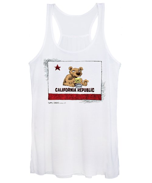 California Budget Begging Women's Tank Top