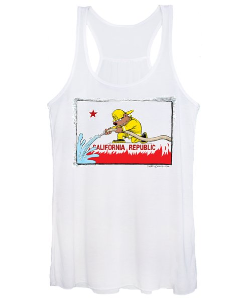 California Firefighter Flag Women's Tank Top