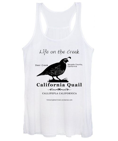 California Quail - White Women's Tank Top