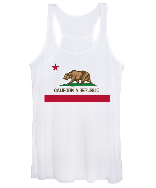 California Republic State Flag Authentic Version Women's Tank Top