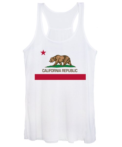 California Republic State Flag Authentic Version Women's Tank Top