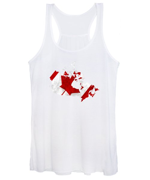 Canada Map Art With Flag Design Women's Tank Top
