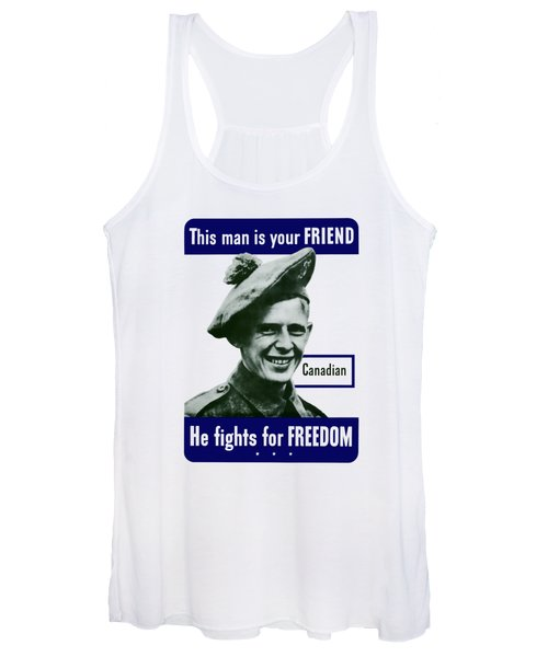 Canadian This Man Is Your Friend Women's Tank Top