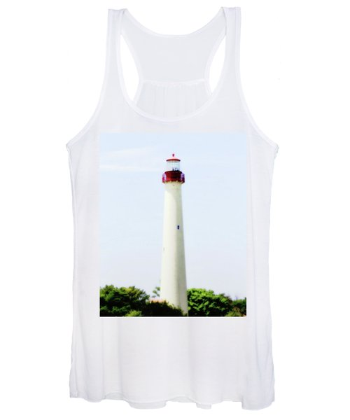 Women's Tank Top featuring the photograph Cape May Light by John Feiser