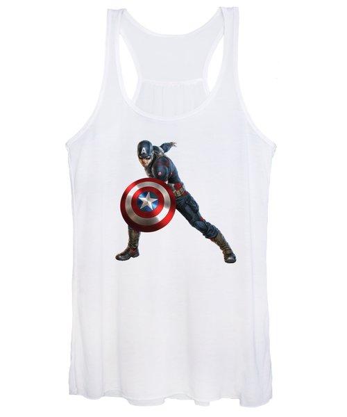 Captain America Splash Super Hero Series Women's Tank Top