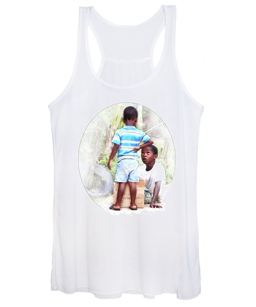 Caribbean Kids Illustration Women's Tank Top