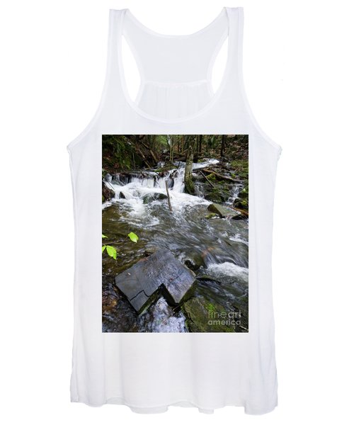 Cascade Falls Stream, Farmington, Maine  -30329 Women's Tank Top