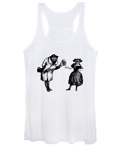 Cat And Mouse Grandville Transparent Background Women's Tank Top