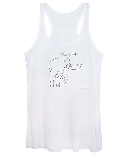 Cat-drawings-black-white-2 Women's Tank Top