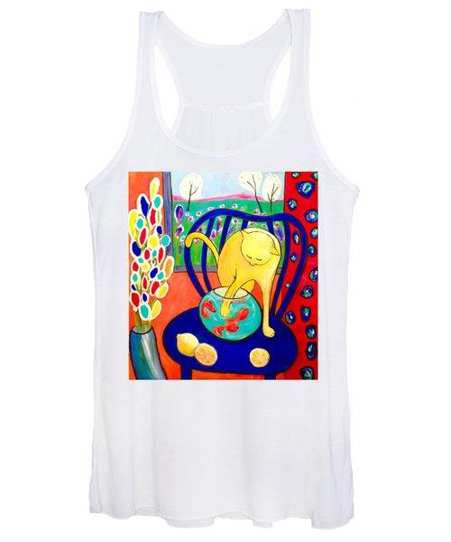 Cat - Tribute To Matisse Women's Tank Top