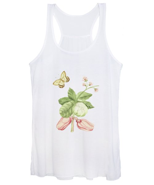 Catechu Tree Branch With Flowers And Apples By Cornelis Markee 1763 Women's Tank Top