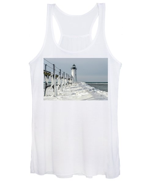 Catwalk With Icy Fringe - Horizontal Version Women's Tank Top