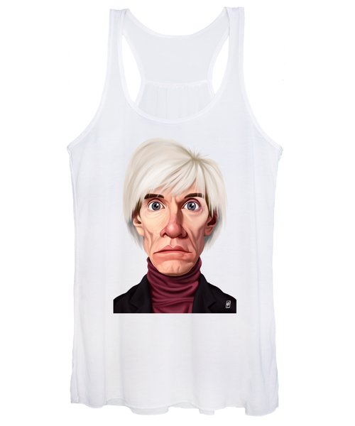Celebrity Sunday - Andy Warhol Women's Tank Top