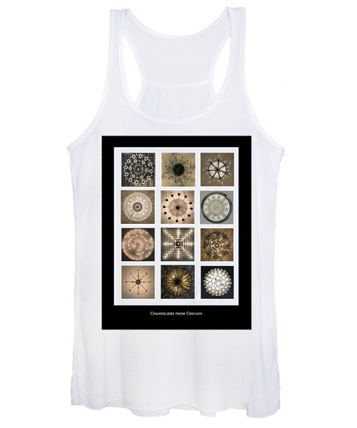Chandeliers From Chicago Poster Women's Tank Top