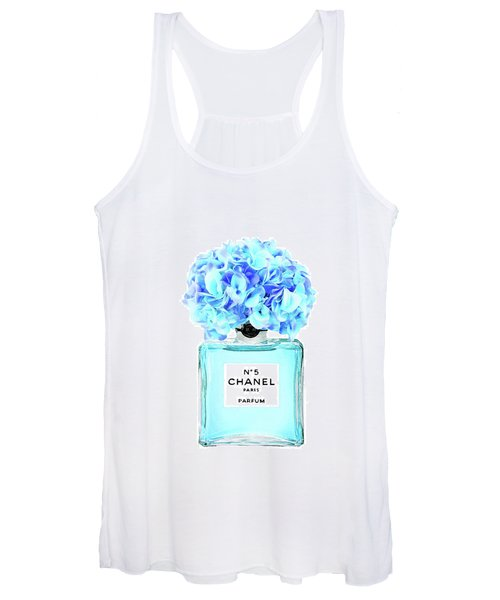 Chanel No.5 With Blue Hydragenia 2 Women's Tank Top