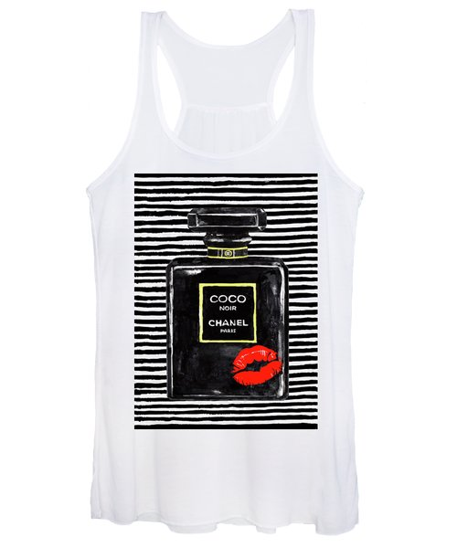 Chanel Perfume Red Lips 2 Women's Tank Top