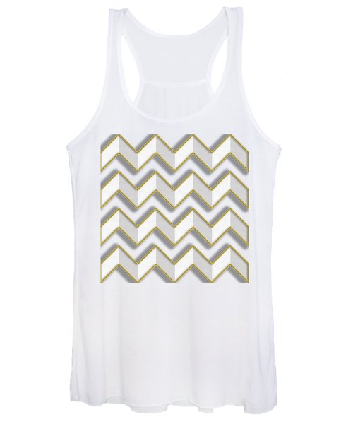 Chevrons - Gold Edges Women's Tank Top