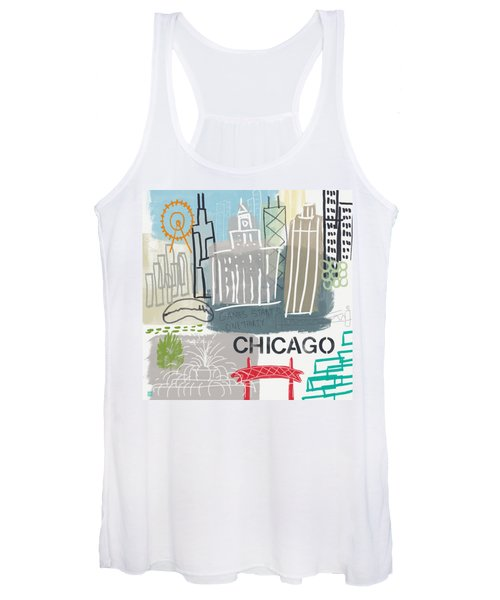 Chicago Cityscape- Art By Linda Woods Women's Tank Top