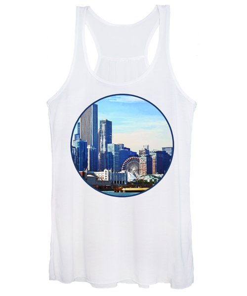 Chicago Il - Chicago Skyline And Navy Pier Women's Tank Top