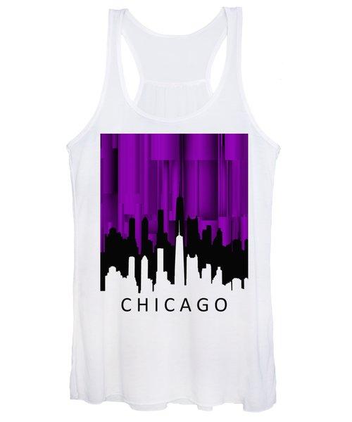 Chicago Violet Vertical  Women's Tank Top