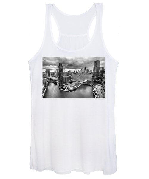 Chicago's Wolf Point From The 27th Floor Women's Tank Top