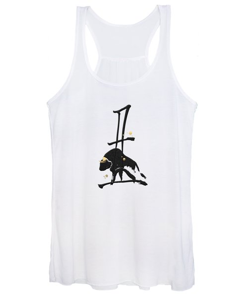 Chinese Zodiac - Year Of The Ox On Rice Paper Women's Tank Top