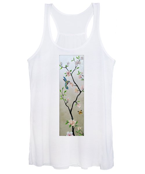Chinoiserie - Magnolias And Birds #5 Women's Tank Top