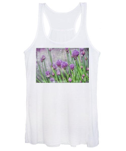 Chives In Texture Women's Tank Top