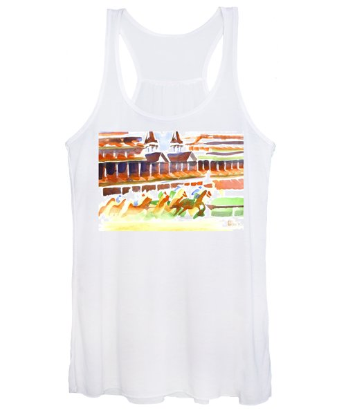 Churchill Downs Watercolor Women's Tank Top