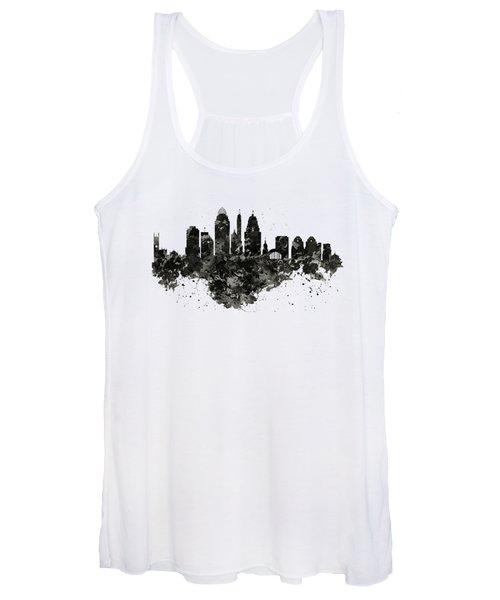 Cincinnati Skyline Black And White Women's Tank Top